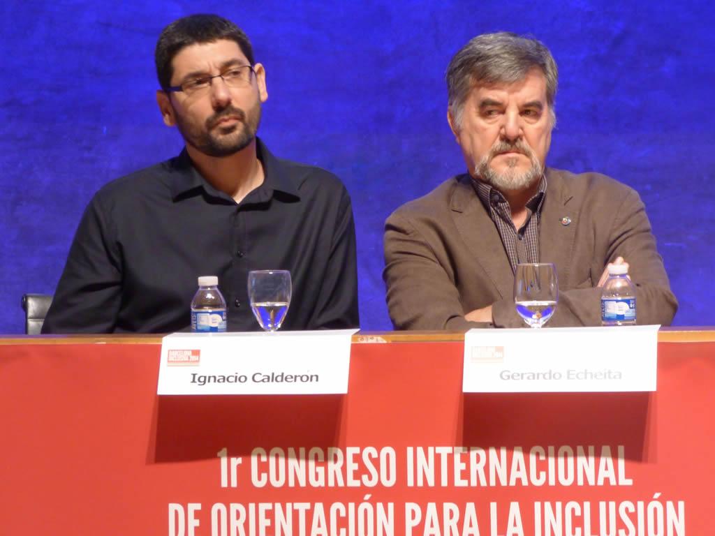 Nacho Calderón Almendros y Gerardo Echeita [Clic para ampliar la imagen]