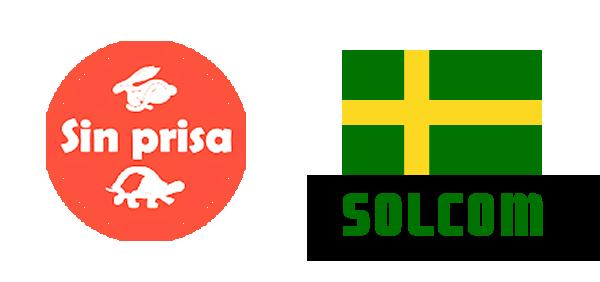 Logotipos de 'Sin Prisa' y 'SOLCOM'